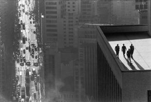 Burri men on a rooftop